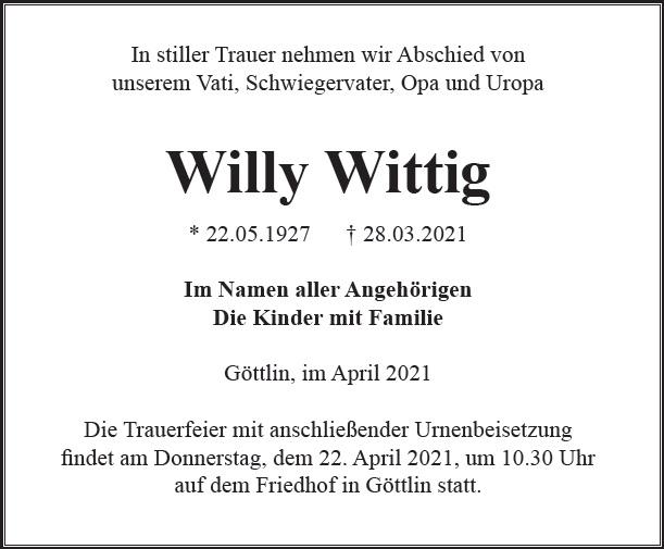 Willy Wittig
