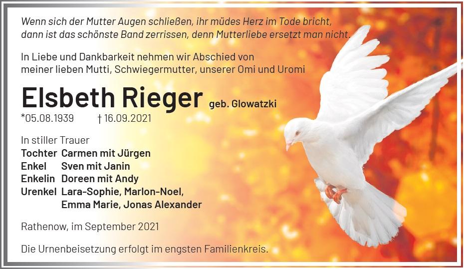Elsbeth Rieger