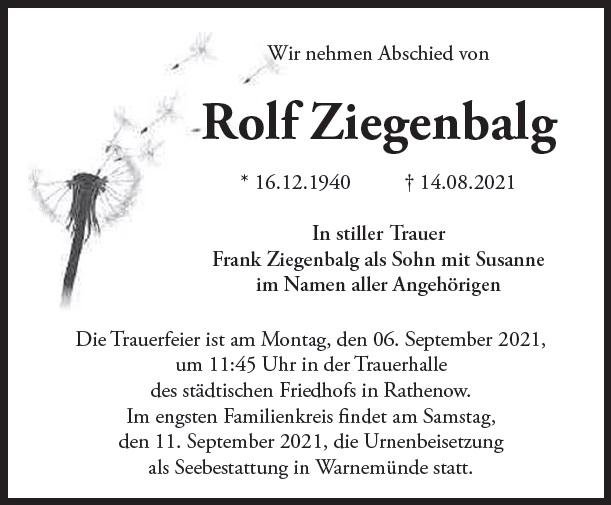 Rolf Ziegenbalg