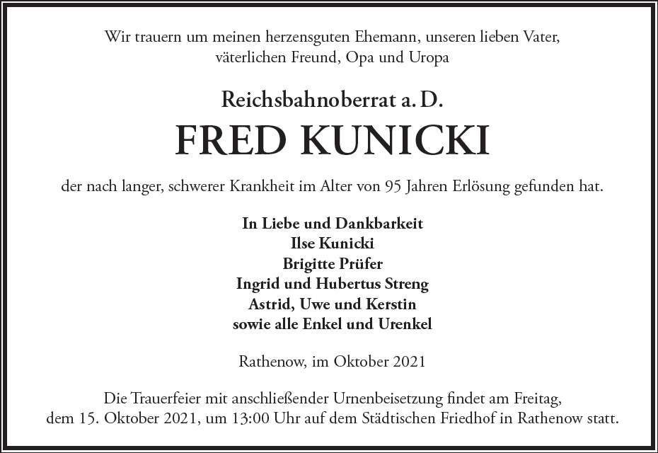 Fred Kunicki